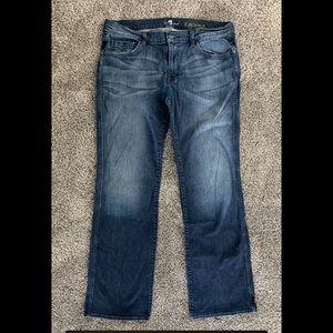 7FAM A pkt boot cut jeans. Size 36